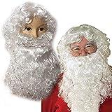 Santa Claus Beard Santa Peluca Set Adulto Navidad Cosplay Pelucas Deluxe Santa Claus Peluca Y Barba Disfraz Disfraz