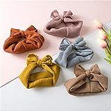 Mottdam 5Pcs Grils Stirnbänder Baby gestrickte Bogen Haarbänder Winter Warmer Crochet Headwear