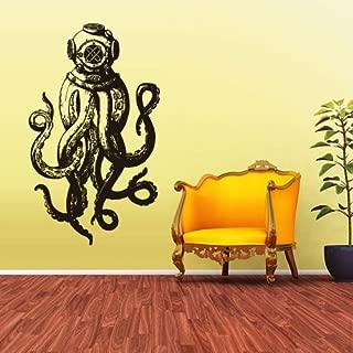 STICKERSFORLIFE Wall Vinyl Sticker Decals Decor Jellyfish Octopus Deep Sea Ocean Fish Scuba Tentacles (Z1589)