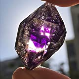 PINGPUNG Cristal áspero Natural Super Siete Cristal Ornamentos de Piedra áspera púrpura Pelo Crudo Hueso de la energía de Alta frecuencia curación (Size : 3 4cm (About 10pcs))