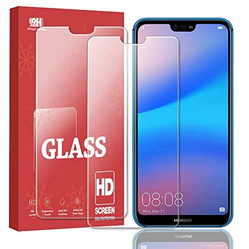 【2枚セット】Huawei P20 liteガラスフイルムHuawei P20 lite強化ガラス 日本製素材旭硝子製/2.5Dラウンドエッジ加工/最大硬度9H/高透過率/3D Touch対応/自動吸着/指紋防止/気泡ゼロ/貼り付け簡単 強化ガラス保護フィ