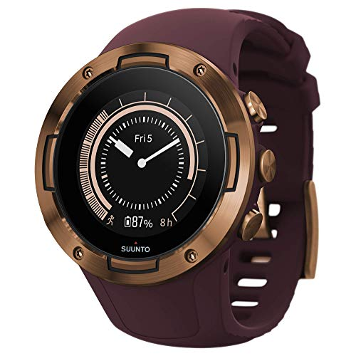 Suunto 5, Lightweight and Compact GPS Sports Watch with 24/7, Activity Tracking and Wrist-Based Heart Rate - Copper/Burgundy
