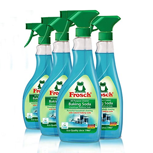Frosch Natural Baking Soda Multi-Surface All Purpose Cleaner Spray, 16.9 fl oz (Pack of 4)