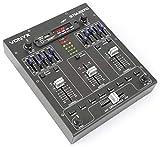 Skytec STM2270 Table de Mixage DJ 4 canaux - MP3/USB/SD , Streaming Audio Bluetooth , 8 effets sons adaptables , Console de mixage idéale pour DJ et petits concerts