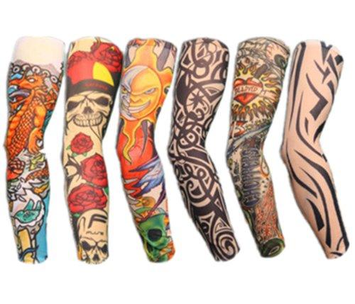 Autek Set of 6Tattoos Tattoowiert Sleeves Arm Sleeve Stockings Tattoo Sleeve Colletion J