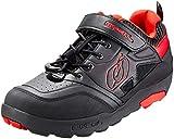O'NEAL | Mountainbike-Schuhe | MTB Downhill Freeride | Vegan | Hoher Grip, Schnellschnürsystem für perfekte Passform, Mesh-Belüftung | Traverse Flat Shoe | Erwachsene | Schwarz Rot | Größe 36