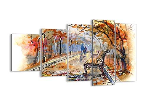 Quadro su Vetro - Cinque 5 Tele - Larghezza: 100cm, Altezza: 60cm - Numero dell'immagine 3000 - Pronto da Appendere - Elementi Multipli - Arte Digitale - Moderno - Quadro in Vetro - GEG100x60-3000