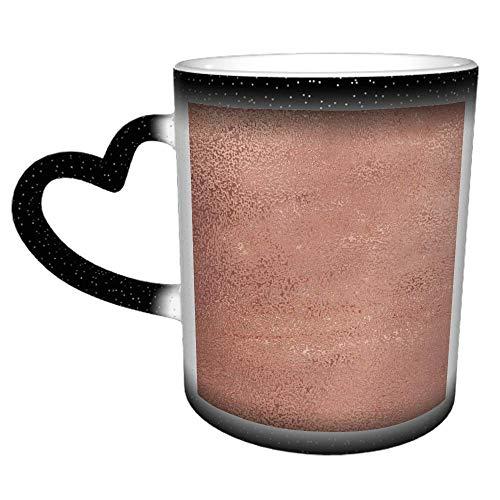 Taza de café de cerámica personalizada con purpurina en oro rosa - Es un regalo/regalo perfecto