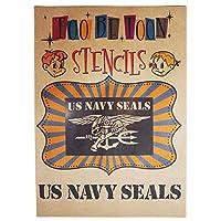 アメリカ軍エンブレムロゴステンシルシート (US NAVY SEALS)