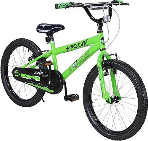 Actionbikes Kinderfahrrad Zombie - 20 Zoll - V-Break Bremse vorne - Seitenständer - Luftbereifung - Ab 4-9 Jahren - Jungen & Mädchen - Kinder Fahrrad - Laufrad - BMX - Kinderrad (20`Zoll)