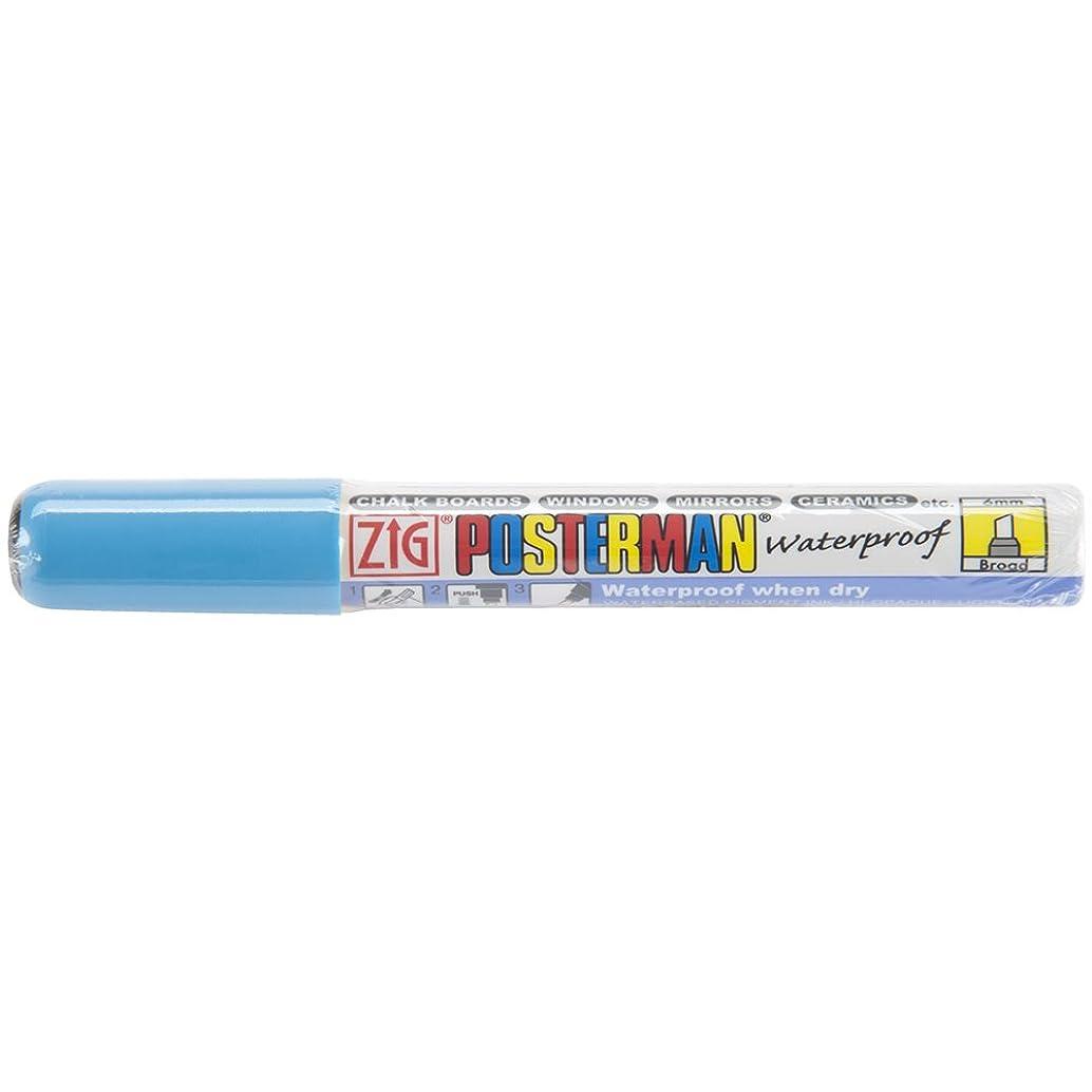 Zig 6mm Posterman Broad Chisel Tip Marker, Light Blue