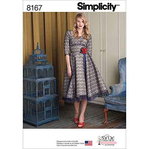 Simplicity Pattern 8167 Misses' Sew Chic Dress Size P5 (12-14-16-18-20)