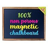 Cedar Markers 24'x18' Best Homeschool Big Chalkboard with Wood Frame. 100% Non-Porous Erasable Blackboard and Whiteboard for Liquid Chalk Markers. Magnet Board Chalk Board (24x18)