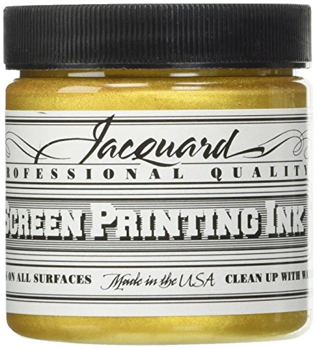Jacquard JAC-JSI1121 Screen Printing Ink, 4 oz, Solar Gold