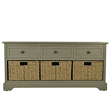 Décor Therapy FR6299 Montgomery Bench, Antique Grey