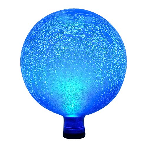 Achla Designs G10-T-F 0000 Solar Powered Colored Glass Globe Light - Outdoor Decor For Garden, Pa, Teal