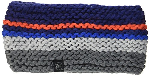 Buff Knitted et Polar Head Band Dorian écharpe, Blue Ink, One Size