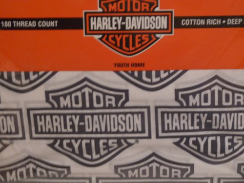 Harley Davidson Motorcycle Sheet Sets Twin Size Sheets Bedding