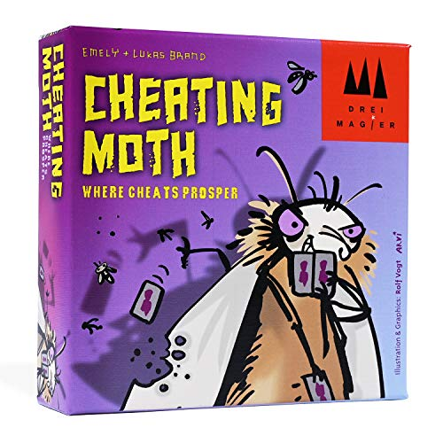Coiledspring Games Cheating Moth Card Game Juego, Multicolor