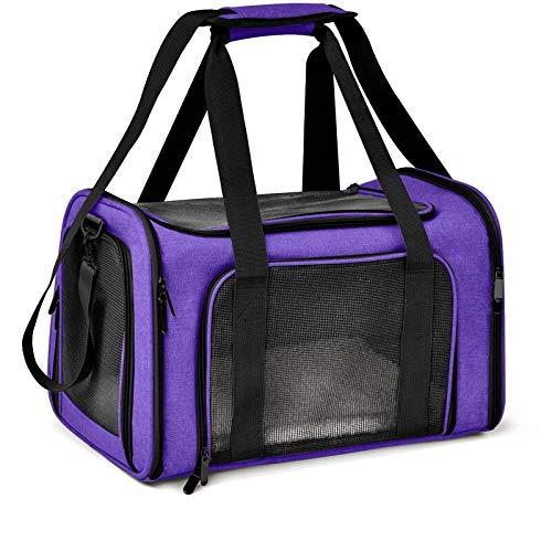 SOQHD Cane e gatto Portatile pieghevole Mesh traspirante for il piccolo cucciolo Cani Gatti Travel Bag può essere collegato con cinture di sicurezza Per uscire, viaggiare