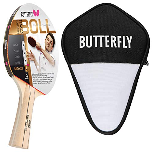 Butterfly Timo Boll Bronze - Juego de raquetas de ping pong y funda para celdas