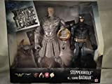 DC Justice League Exclusive Steppenwolf Vs Contre Batman Large Fully Posable Figurines (Steppenwolf Comes with Fully Removable Helmet) New in Unopened Box