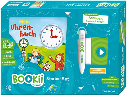 BOOKii® Starterset Mein Uhrenbuch: BOOKii® Der Hörstift mit Aufnahmefunktion und BOOKii® Buch Mein Uhrenbuch (BOOKii: Antippen, Spielen, Lernen)