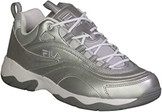 Fila Men's Ray Fashion Sneakers Metallic Silver/White/Monument 13