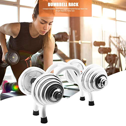 knowledgi Soporte para mancuernas – Soporte de acero para almacenamiento de pesas en el gimnasio
