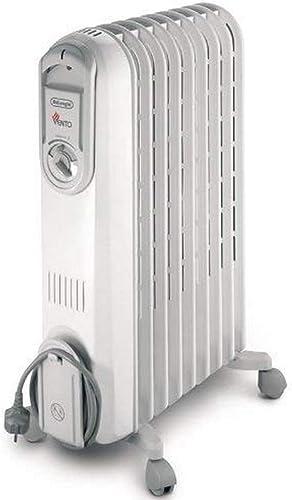 Delonghi V550920 Radiateur Bain d'Huile Série Vento, 2000 W, Blanc/Gris