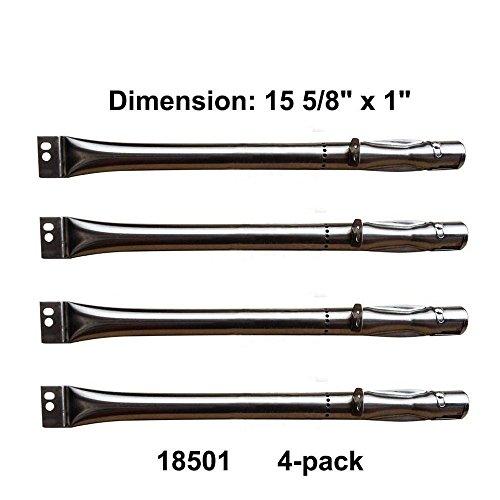 Set of 4 Burners for Uniflame Grills GBC850W-C, GBC850W, GBC850WNG