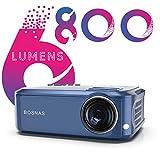 Vidéoprojecteur, 6800 Lumens Projecteur Full HD 1920 x 1080P Natif Vidéo Projecteur Soutien HiFi Stereo SoundBar, Réglage Digital 90000 Heures Projecteur LED Home Cinéma & Présentation PPT