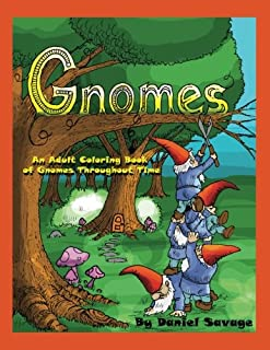 Gnomes Adult Coloring Book Throughout