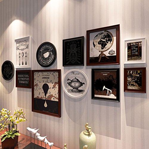 Cadre décoratif Cadres photo en bois, 11 Pcs / ensembles Collage Photo Frame Set, Cadres photo Vintage, cadre photo famille mur bricolage cadre photo ensembles pour mur ( Couleur : C , taille : 11 frames/200*90CM )