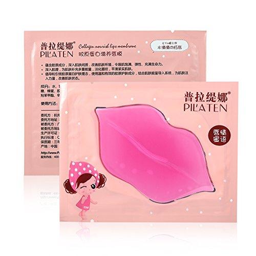 Maschera labbra, 16pcs Pilaten Pink Crystal Collagen Beauty Maschera idratante per labbra idratante esfoliante, Migliora linee labbra Idratante Essenza Rendi il tuo...