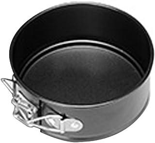 HINMAY Molde Redondo para Hornear Pasteles, Base extraíble Antiadherente con Clips de Metal, Negro