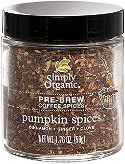 Simply Organic Pumpkin Spices Pre-Brew Coffee Spice | Certified Organic | 1.76 oz.