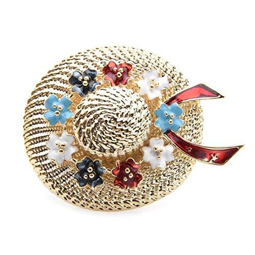 ZWLZQ Broschen Brosche Multicolor Blume Strohhut broschen Frauen emaille Sonnenhut brosche pins mädchen Mode brosche