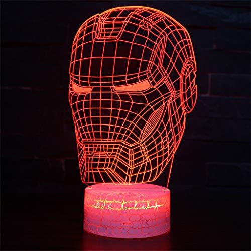 Veilleuse LED / 3D Simple Light /, Lampe de sculpture sur 7 couleurs Touch Art, Panneau en acrylique, Base en ABS, Câble USB, Chambre à coucher pour la décoration intérieure, Cadeau pour enfants