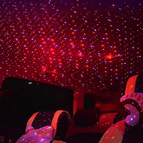 FWUDI Luces ambientales de Coche Coche Mini LED Techo Sky Sky Proyector, Medio Ambiente de automóviles Ambiente Atmósfera Luz Galaxy Proyector, Iluminación de Autos Accesorios de decoración