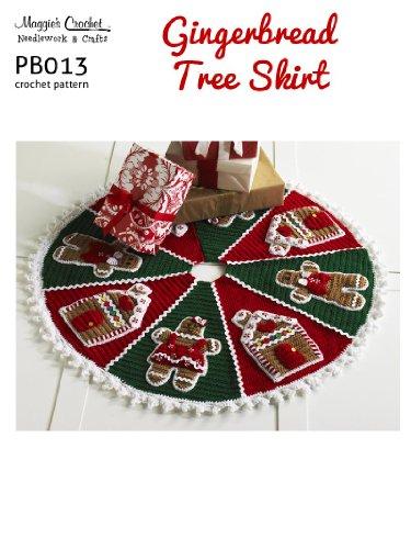 Crochet Pattern G'bread Tree Skirt PB013-R