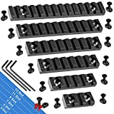 FANGOSS Picatinny Rails Set, 3 5 7 9 11 13 Slot Aluminum Mlock Picatinny Rail Section Accessory for M loc System with 13 T-Nuts & Screws, 3 Allen Wrench