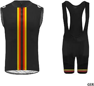 Uglyfrog Set Abbigliamento Ciclismo Estivo Salopette 360 Gradi Traspirante per Uomo Ciclismo DXC26 Completo Ciclismo Maniche Corti