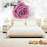 Fototapete Vlies Tapete Pinke Rose Wandtapete Design Wanddeko Ausblick Geeignet Fototapeten für Esszimmer Schlafzimmer Wohnzimmer Weihnachten Black Friday 300x210 cm