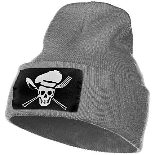 HHJJI Skull Chef Cooking Unisex Beanie Hat Warme Hüte Skull Cap Strickmütze