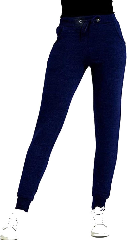 forro polar suave al tobillo acanalado forro polar ajuste ce/ñido IMPORIO 11 talla 8-14 Pantalones de ch/ándal para mujer