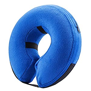 BENCMATE Protective Inflatable Collar for Dogs and Cats – Soft Pet Recovery Collar Does Not Block Vision E-Collar