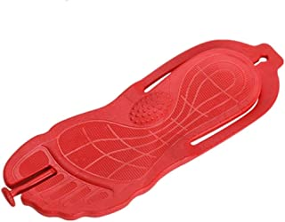 Casual shoes. New Flip Flops for Men Thong Sandals Shower Slippers Beach Shoes with Arch Support PVC Foldable Lightweight Rubber Sole Non-Slip (Color : Red, Size : 45 EU)