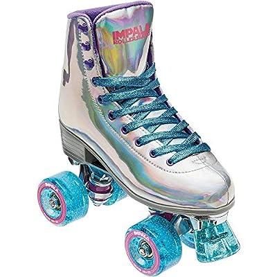 Impala Rollerskates Girl's Impala Quad Skate (Big Kid/Adult) Holographic 10 (US Men's 8, Women's 10) M