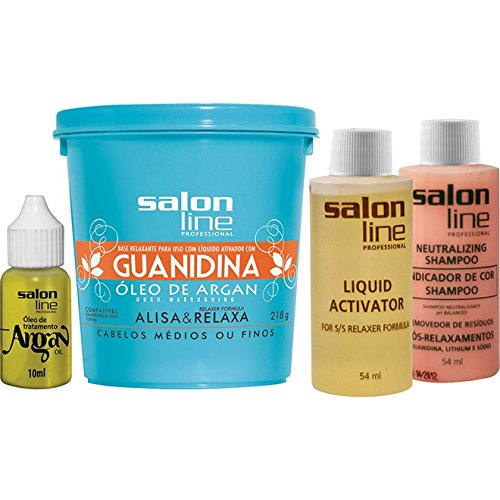 Linha Transformacao (Guanidina) Salon Line - Oleo De Argan Medio 218 Grg - (Salon Line Transformation (Guanidine) Collection - Regular Argan Oil net 7.68 Oz)